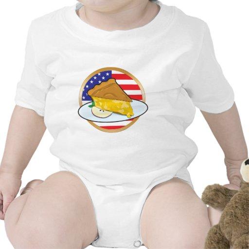 Bandera americana de la empanada de Apple Traje De Bebé