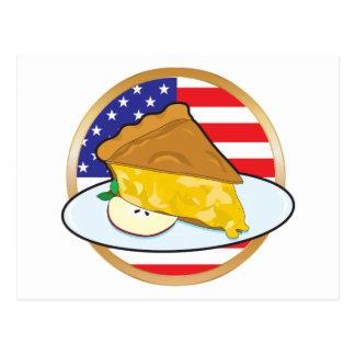 Bandera americana de la empanada de Apple Postal