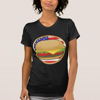Bandera americana de la hamburguesa playera