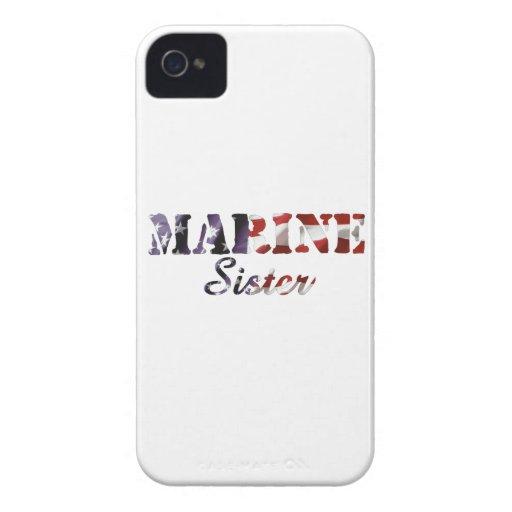 Bandera americana de la hermana marina Case-Mate iPhone 4 protector