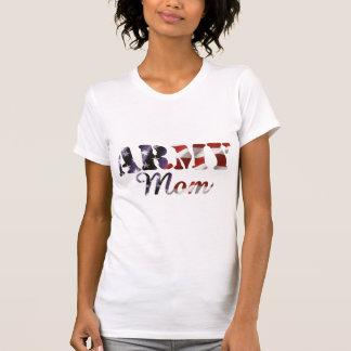 Bandera americana de la mamá del ejército poleras