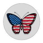 Bandera americana de la mariposa