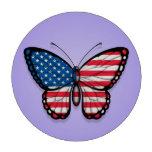 Bandera americana de la mariposa en púrpura