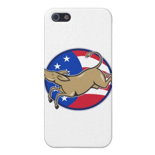 Bandera americana de la mascota del burro de Demóc iPhone 5 Coberturas