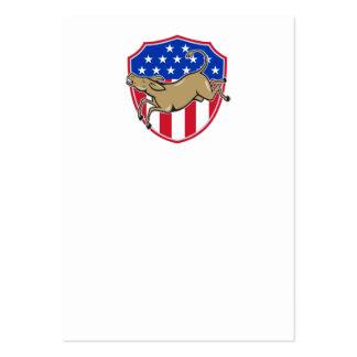 Bandera americana de la mascota del burro de tarjetas de visita grandes