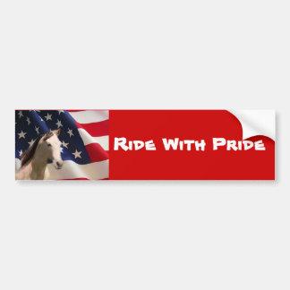 Bandera americana de la pegatina para el parachoqu pegatina para auto