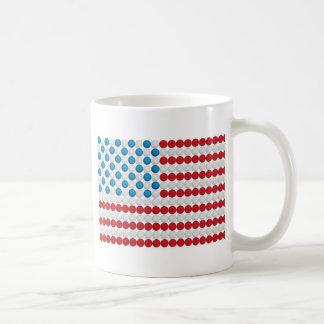 Bandera americana de la pelota de golf taza clásica