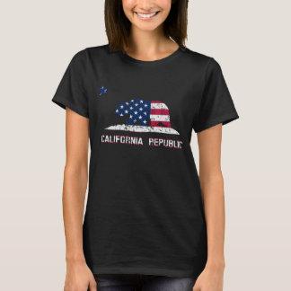 Bandera americana de la república de California Playera