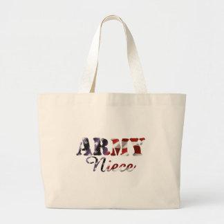 Bandera americana de la sobrina del ejército bolsas de mano