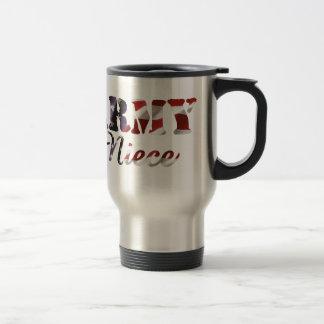 Bandera americana de la sobrina del ejército taza de café