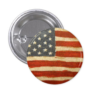 Bandera americana de la vieja gloria pin redondo de 1 pulgada