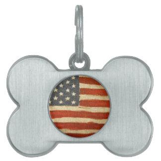 Bandera americana de la vieja gloria placas mascota