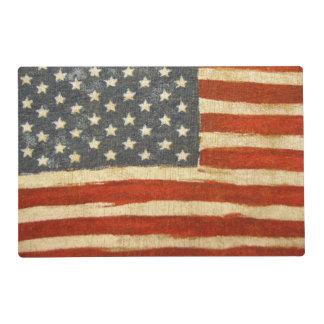 Bandera americana de la vieja gloria tapete individual