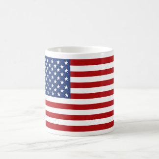 Bandera americana de la vieja gloria taza