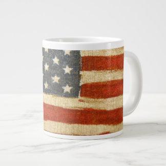 Bandera americana de la vieja gloria taza grande