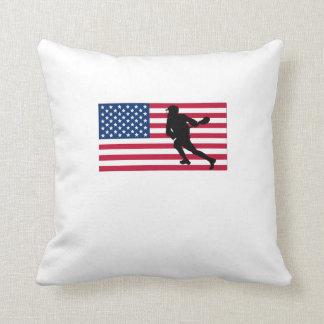 Bandera americana de LaCrosse Cojines