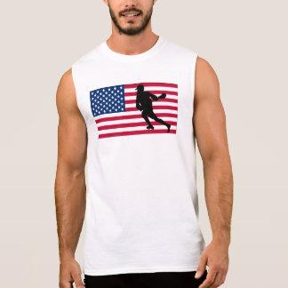 Bandera americana de LaCrosse Camiseta Sin Mangas