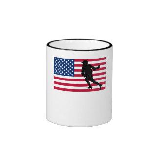 Bandera americana de LaCrosse Taza De Café