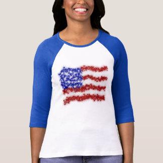 Bandera americana de las barras y estrellas de los playera