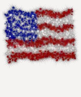 Bandera americana de las barras y estrellas de los tee shirts