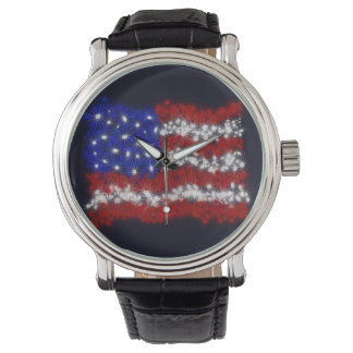 Bandera americana de las barras y estrellas de los relojes