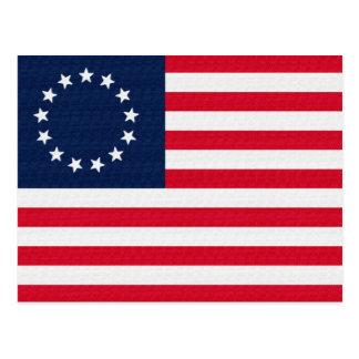 Bandera americana de las estrellas de Betsy Ross 1 Postales