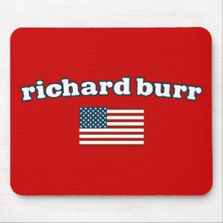 Bandera americana de las rebabas de Richard Alfombrillas De Raton