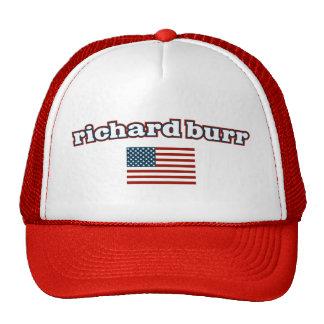 Bandera americana de las rebabas de Richard Gorro De Camionero