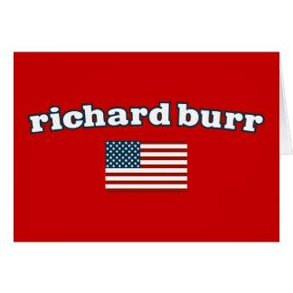 Bandera americana de las rebabas de Richard Tarjeta De Felicitación