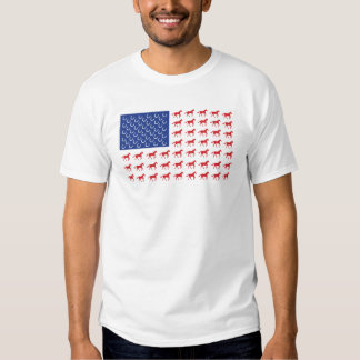 Bandera americana de los caballos patrióticos camisas