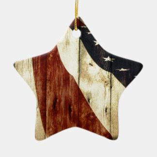Bandera americana de los E.E.U.U. de la viruta del Ornamente De Reyes