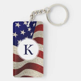 Bandera americana de los E.E.U.U. de las barras y  Llaveros