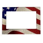 Bandera americana de los E.E.U.U. de las barras y  Marcos Magneticos De Fotos