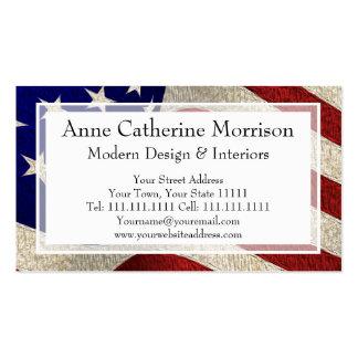 Bandera americana de los E E U U de las barras y Tarjeta De Visita
