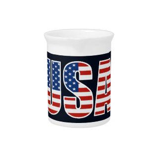 Bandera americana de los E.E.U.U. del personalizab Jarrones