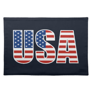 Bandera americana de los E.E.U.U. del personalizab Manteles Individuales