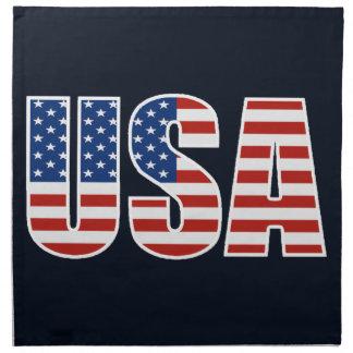 Bandera americana de los E.E.U.U. del personalizab Servilleta De Papel