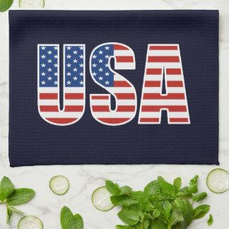 Bandera americana de los E.E.U.U. del personalizab Toallas De Mano