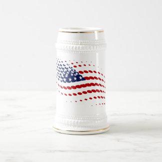 Bandera americana de los E.E.U.U. del tono medio Jarra De Cerveza