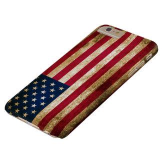 Bandera americana de los E.E.U.U. del vintage Funda Para iPhone 6 Plus Barely There