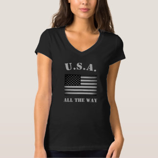 Bandera americana de los E.E.U.U. del vintage Playera