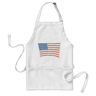 Bandera americana de los E.E.U.U. en delantales de