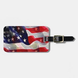 Bandera americana de los E.E.U.U. Etiqueta Para Equipaje