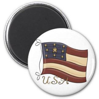 Bandera americana de los E.E.U.U. Imanes De Nevera