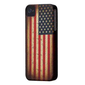 Bandera americana de los E.E.U.U. iPhone 4 Cárcasa