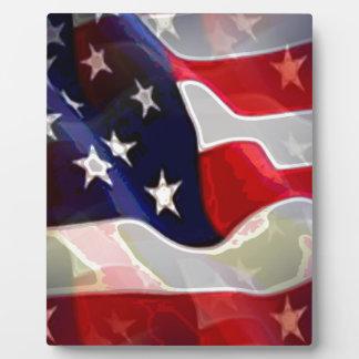 Bandera americana de los E.E.U.U. Placa
