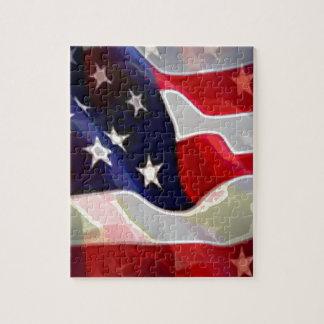 Bandera americana de los E.E.U.U. Rompecabezas Con Fotos