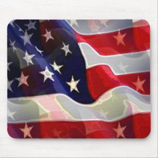 Bandera americana de los E.E.U.U. Alfombrilla De Ratón