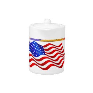 Bandera americana de los gorras