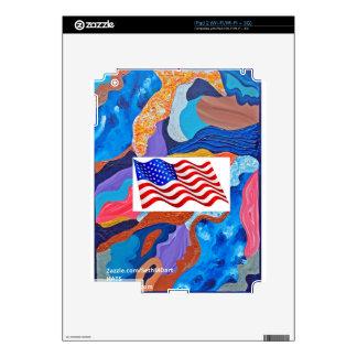 Bandera americana de los gorras iPad 2 calcomanía